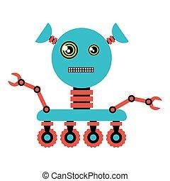 illustration, rigolote, robot.