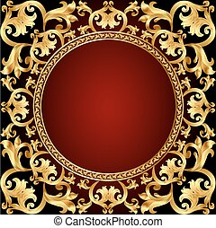 romantic background frame with gold  pattern