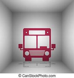 illustration., room., バス, 印, bordo, 影, アイコン