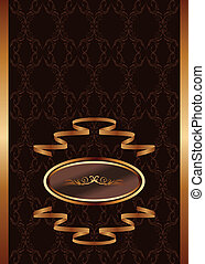 royal background - Illustration royal background with golden...