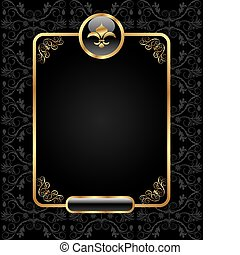 royal background with golden frame - Illustration royal ...