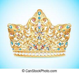 Illustration royal golden crown