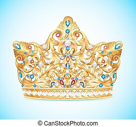 Illustration royal golden crown