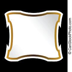 Illustration royal label of black background