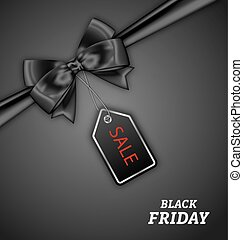 Sale Discount with Bow Ribbon for Black Friday