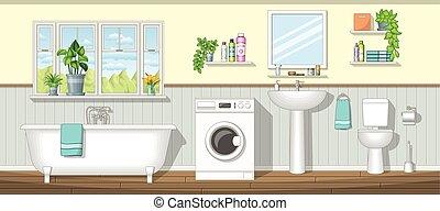 illustration, salle bains