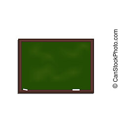 school green board isolated on white background