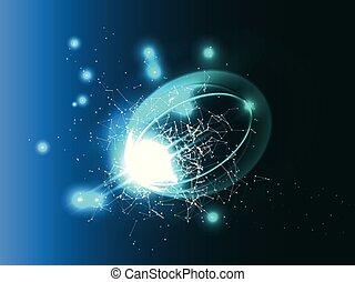 illustration., science, résumé, arrière-plan., vecteur, futuriste