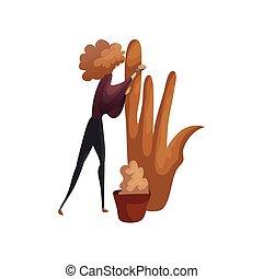 illustration., sculpts, vector, spotten, klei, sculpture., ...