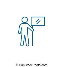 illustration., señal, concept., símbolo, alto, vector, rendimiento, línea, icono, lineal