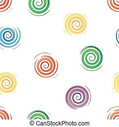 illustration, seamless, aquarelle, vecteur, spirales, fond