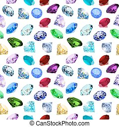illustration seamless background with glittering precious stones