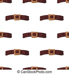 illustration., seamless, modèle, vecteur, cuir, ceinture, arrière-plan.