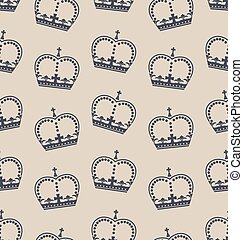 Seamless Wallpaper Representing the Crown of the British Royal Family
