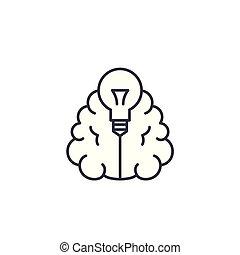 illustration., segno, concept., idee, simbolo, vettore, innovativo, linea, icona, lineare