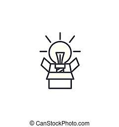 illustration., segno, concept., simbolo, progetto, vettore, innovativo, linea, icona, lineare