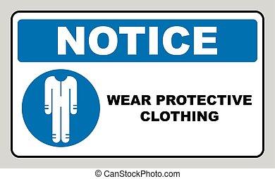illustration., sein, muss, vektor, schützend, overalls, ...