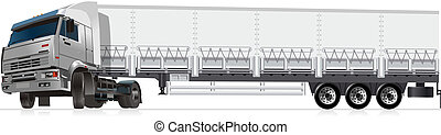 illustration semi-truck Available EPS-10 separated by groups...