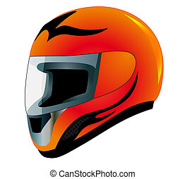 send racing red insulated on white background