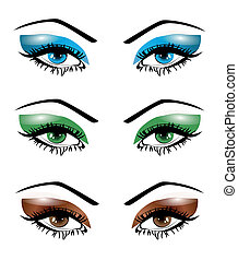 Illustration set female eyes