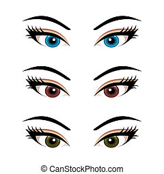 set female eyes isolated (3)