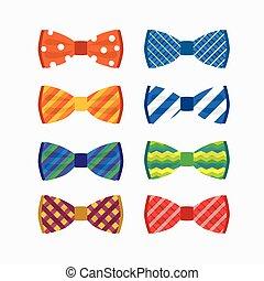 illustration set of bow tie