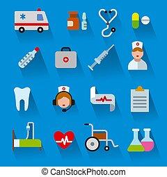 flat color medicine icons