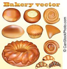 illustration set of fresh baked blusher isolated on a white background