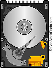 Illustration set of hard disk in vector.