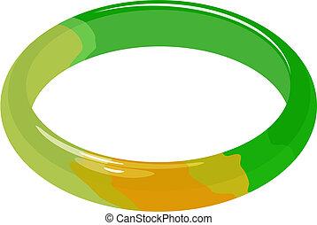 Illustration set of jade bracelet in vector.