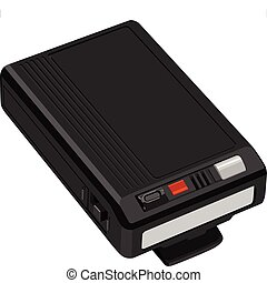 Illustration set of pager in vector.