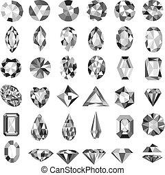 Illustration set of precious stones