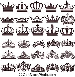 illustration set of silhouettes of