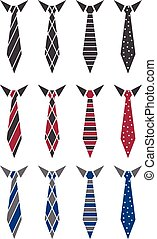 Illustration set of ties. vector