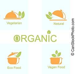 Set of Vegetarian Food Icons