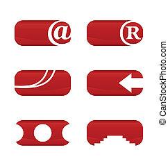 Illustration set of web elements for design
