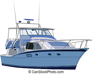 Illustration set of yacht in vector.
