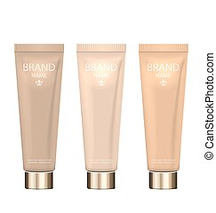 Set Realistic Packages of Foundation with Different Shades