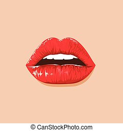 illustration. sexy lips
