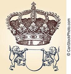 illustration shield design set wit
