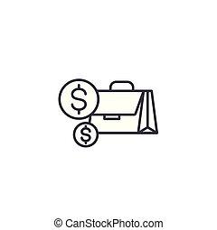 illustration., signe, concept., espèces, symbole, vecteur, ligne, icône, linéaire