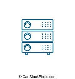 illustration., signe, concept., symbole, équipement, linéaire, vecteur, ligne, icône, réseau