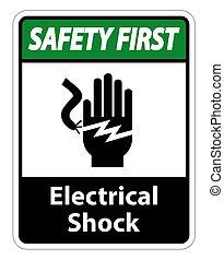 illustration, signe, fond, symbole, électrique,...