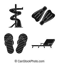 illustration., signe., objet, isolé, collection, bitmap, activité, piscine, stockage