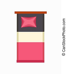 illustration, singel, vektor, säng, lyxvara, ikon