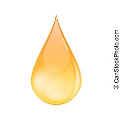 Single of Oil Drop Isolated on White Background