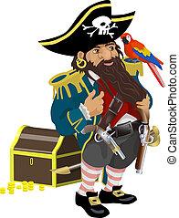 illustration, sjörövare