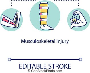 illustration., skelett, ben, rgb, begrepp, editable, system...