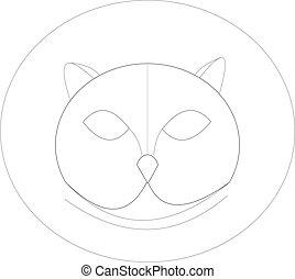 illustration sketch of owl head.eps