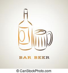 illustration sketch symbol of beer